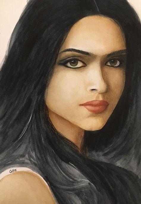 Deepika Padukone by girishkelkarart